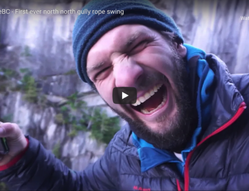 SlacklifeBC – First Ever North-North Gully Rope Swing